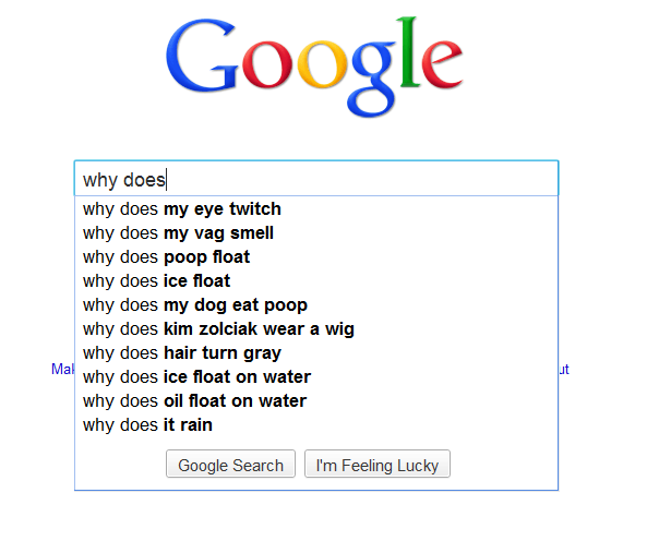All Valid Google Suggestions