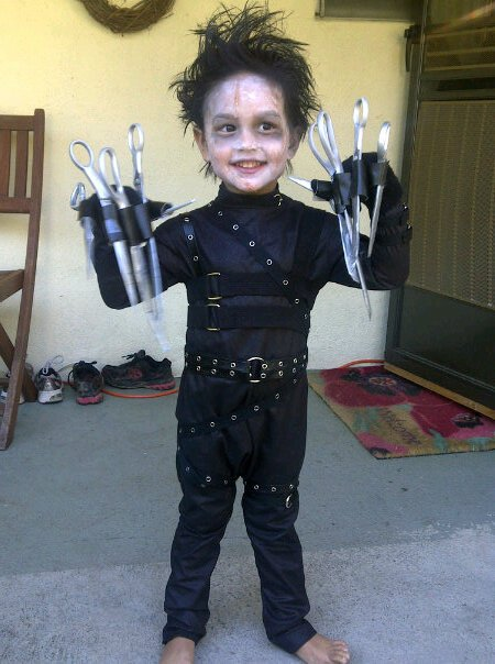 edward scissor hands kid costume