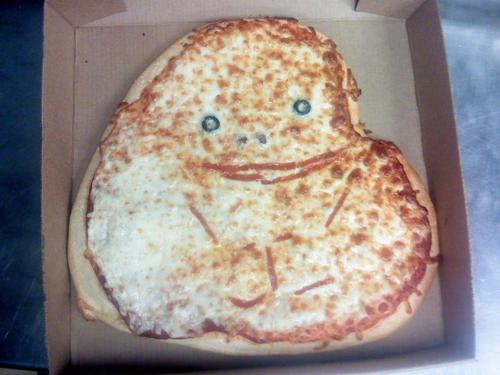 Heart Shaped Forever Alone Pizza
